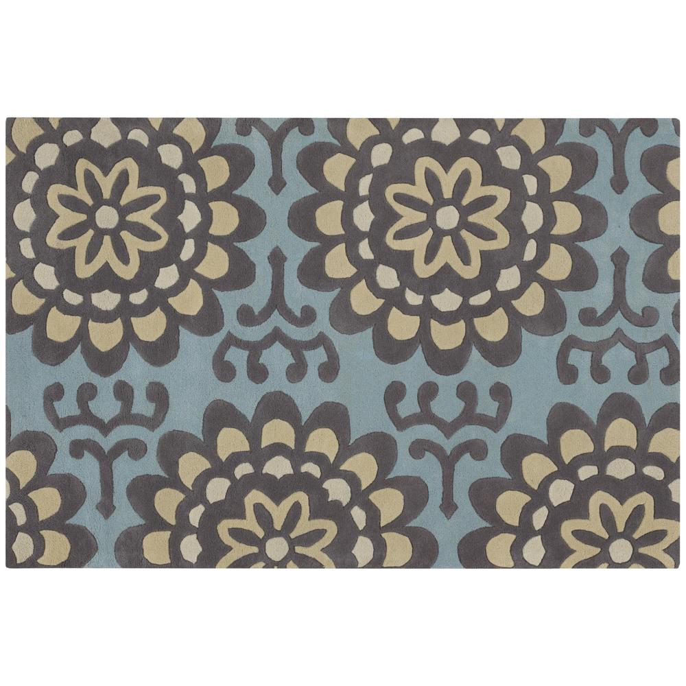 """Artist's Loom Hand-tufted Transitional Floral Wool Rug (5'x7'6) - 5' x 7'6"""""""