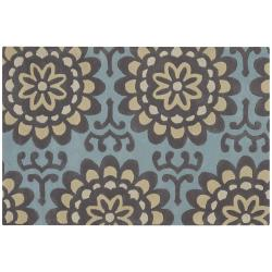 Artist's Loom Hand-tufted Transitional Floral Wool Rug - 7'9 x 10'6 - Thumbnail 0