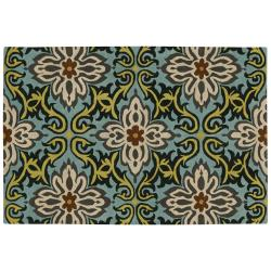 Artist's Loom Hand-tufted Transitional Floral Wool Rug (5'x7'6) - 5'x7'6 - Thumbnail 0