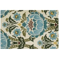 """Amy Butler Hand-tufted Ivory Floral New Zealand Wool Rug - 5' x 7'6"""""""