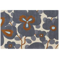 Amy Butler Hand-Tufted Ivory Floral New Zealand Wool Area Rug (7'9 x 10'6) - Thumbnail 1