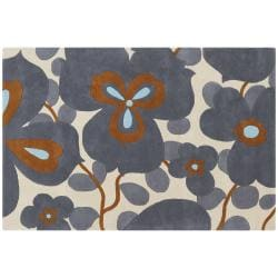 Amy Butler Hand-Tufted Ivory Floral New Zealand Wool Area Rug (7'9 x 10'6) - Thumbnail 2