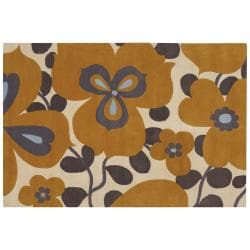 Artist's Loom Hand-tufted Transitional Floral Wool Rug - 7'9x10'6 - Thumbnail 0