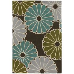 Artist's Loom Hand-tufted Transitional Floral Wool Rug (5'x7'6) - Thumbnail 1