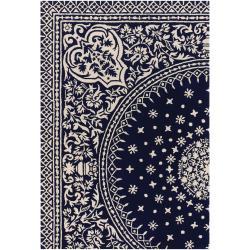 Artist's Loom Hand-tufted Traditional Oriental Wool Rug (5'x7'6) - Thumbnail 2