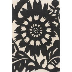 Artist's Loom Hand-tufted Transitional Floral Wool Rug (7'9x10'6) - Thumbnail 1