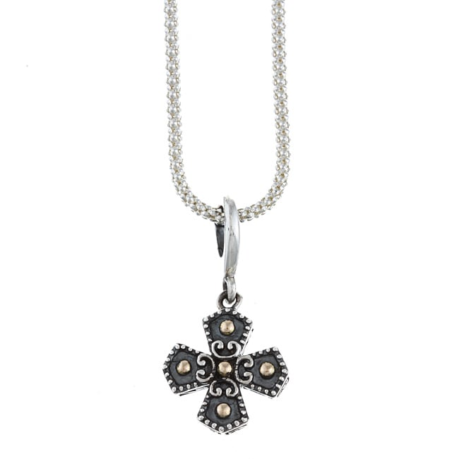 14k Gold over Sterling Silver Cross Necklace