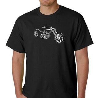 Los Angeles Pop Art Men's 'Motorcycle' Shirt