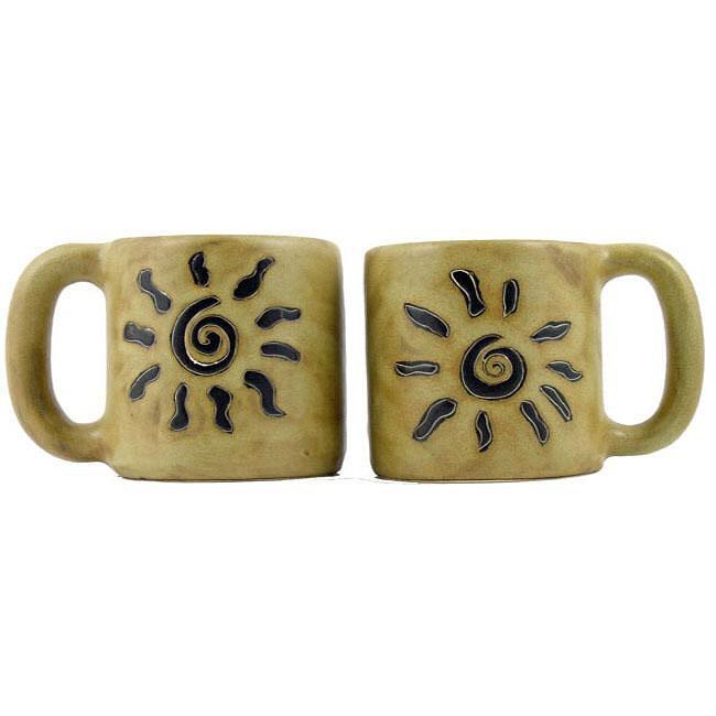 Set of 2 Mara Stoneware 16-oz Sunburst Mugs (Mexico)