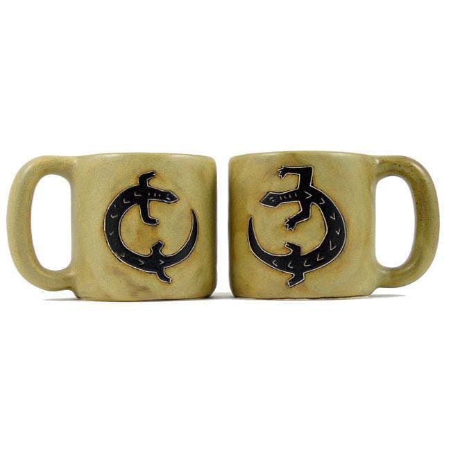 Set of 2 Mara Stoneware 16-oz Gecko Mugs (Mexico)