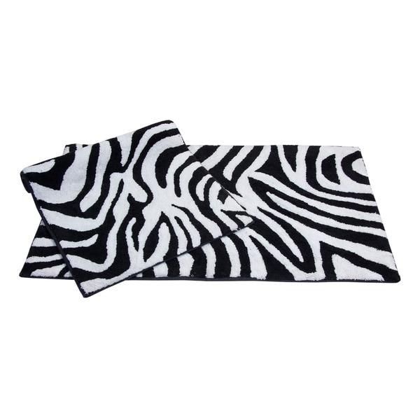 Safari Cotton Collection 2-piece Bath Rug Set - includes BONUS step out mat