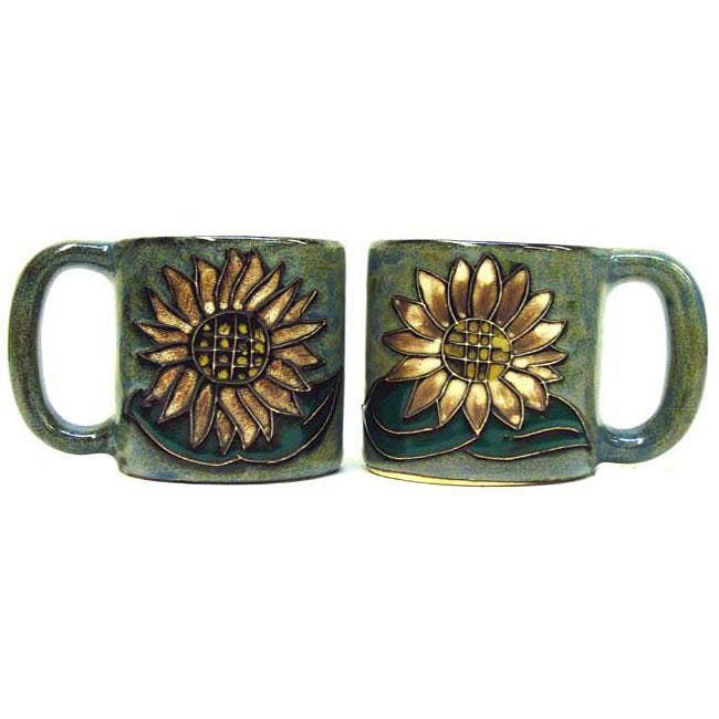 Set of 2 Mara Stoneware 16-oz Sunflower Mugs (Mexico)