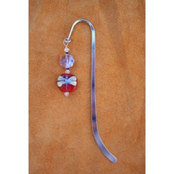Beadwork by Julie Silverplated Beaded Dragon Fly Bookmark - Thumbnail 1
