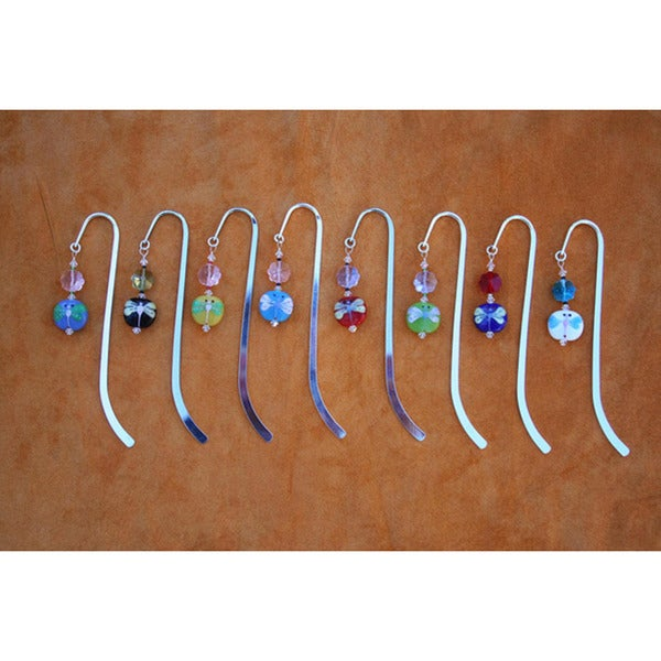 Beadwork by Julie Silverplated Beaded Dragon Fly Bookmark. Opens flyout.