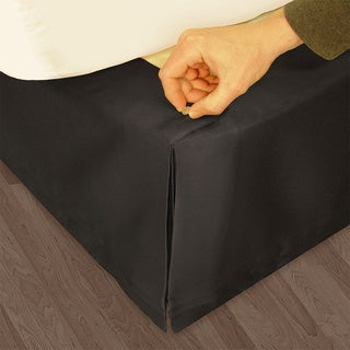 Veratex 'Hike Up Your Skirt' Matte Satin Adjustable 17-inch Drop California King-size Bedskirt