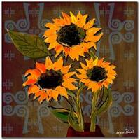 Miguel Paredes 'Sunflowers I' Canvas Art