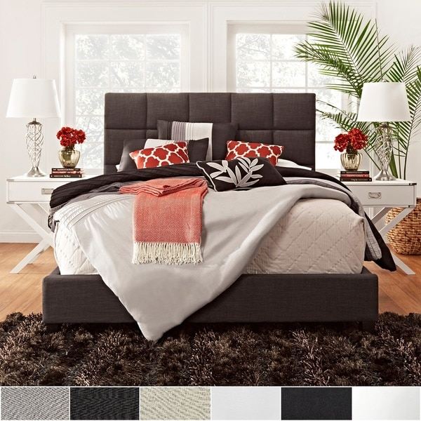 Fenton Column Upholstered King Size Bed iNSPIRE Q Modern