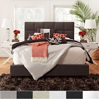 Fenton Column Upholstered Platform Bed by iNSPIRE Q Modern (More options available)