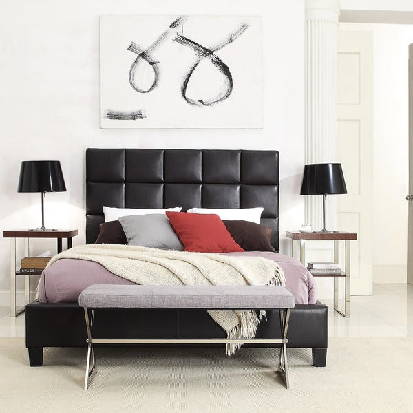 Fenton Column Upholstered Bed by iNSPIRE Q Modern