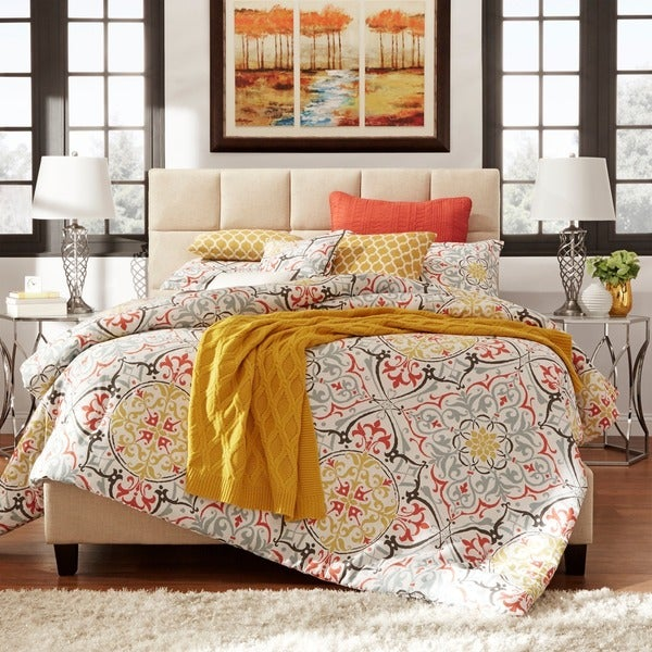 Fenton Column Upholstered Queen Size Bed iNSPIRE Q Modern