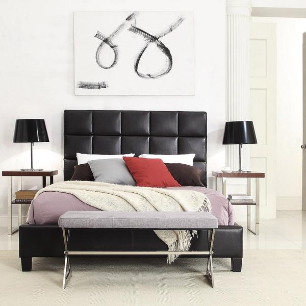 TRIBECCA HOME Fenton Column Upholstered Bed