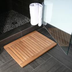 """Premium Plantation 23.6"""" Teak Shower Mat"""