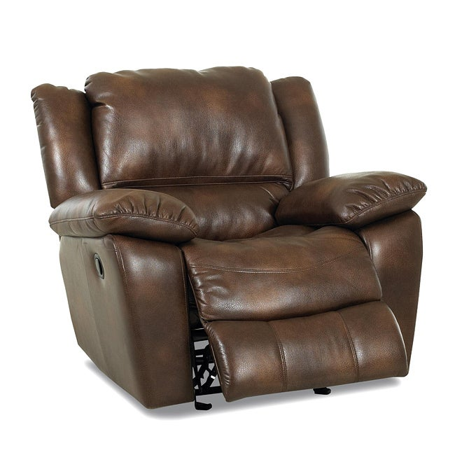 Rafferty Microfiber Idaho Brown Reclining Rocking Chair