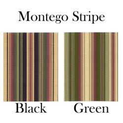 Ellis Curtain Montego Stripe 2-piece Swag Empress Valance