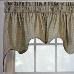 Ellis Curtain Logan Check 2-piece Swag Empress Valance - Thumbnail 1