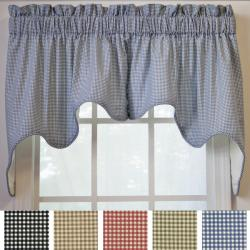 Ellis Curtain Logan Check 2-piece Swag Empress Valance