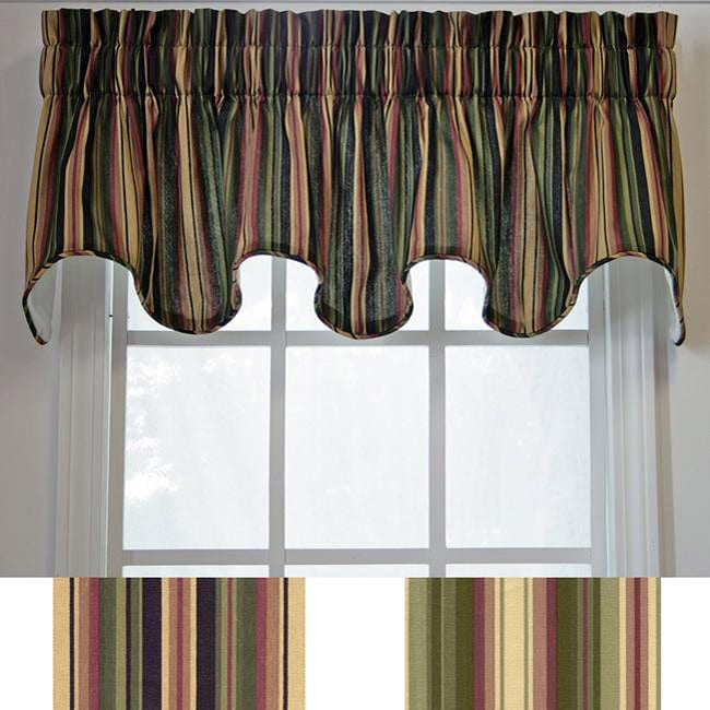 Montego Stripe Scallop Window Valance