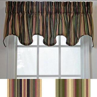 Ellis Curtain Montego Stripe Scallop Window Valance