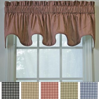 Ellis Curtain Checkered Scallop Valance - 15 x 70 (3 options available)