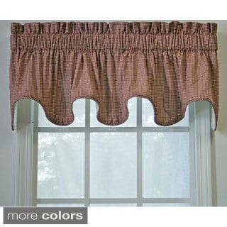 Ellis Curtain Checkered Scallop Valance