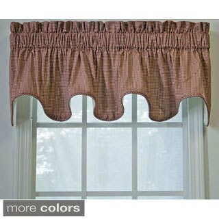 Ellis Curtain Checkered Scallop Valance - 15 x 70