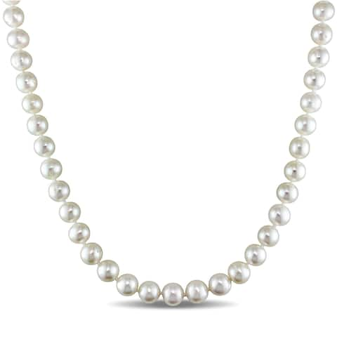 Miadora White 8-9mm Cultured Freshwater Pearl Necklace (16-24 inch)