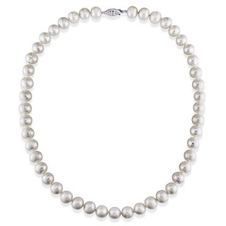 Miadora White Cultured Freshwater Pearl Necklace (7.5-8 mm) (2 options available)