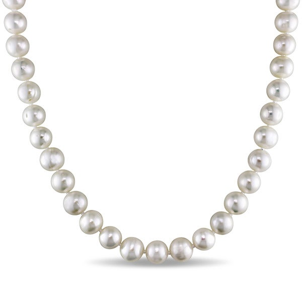 Miadora White Cultured Freshwater Pearl Necklace (18-24 inch)
