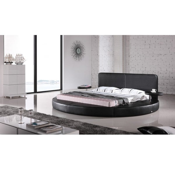 Oslo Round Queen Leatherette Bed Overstock