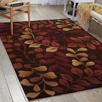 Nourison Hand-tufted Contours Botanical Chocolate Rug - 8' x 10'6