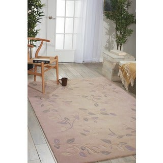 Nourison Hand-Tufted Contours Cream Polyester Rug (5' x 7'6)