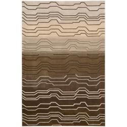 Nourison Hand-tufted Contours Natural Rug (7'3 x 9'3)