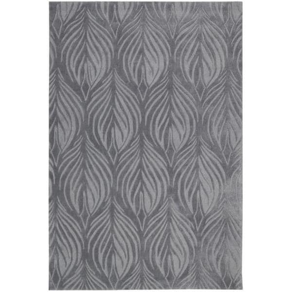 Nourison Hand-Tufted Contours Transitional Slate Rug - 8' x 10'6