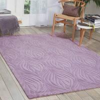 Nourison Hand-tufted Contours Lavender Rug - 8' x 10'6
