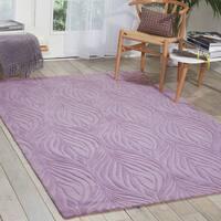 Nourison Hand-tufted Contours Lavender Rug - 3'6 x 5'6