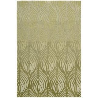 Brown Leaves Abstract Rug 5 X 7 6 Free Shipping Today