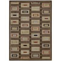 "Nourison Monaco Brown Abstract Rug (2'3 x 3'9) - 2'3"" x 3'9"""
