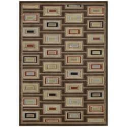 Nourison Monaco Brown Abstract Rug (7'9 x 10'10) - Thumbnail 2
