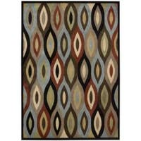 Nourison Monaco Brown Geometric Rug