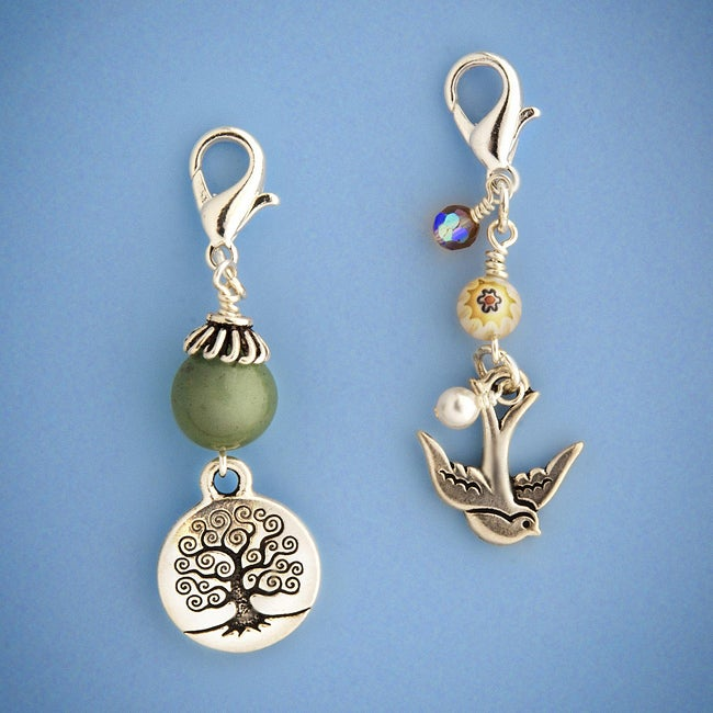 Fashion Forward Aventurine Nature Charm Set